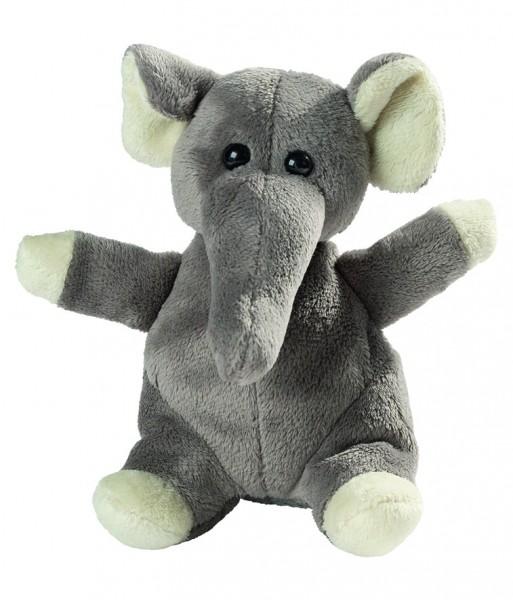 Plüsch Elefant Wolle - grau (Größe: ca. 14 cm) - optional mit Siebdrucktransfer, Direkttransfer