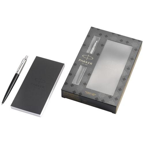 Jotter Präsentset schwarz mit Notizbuch in schwarz