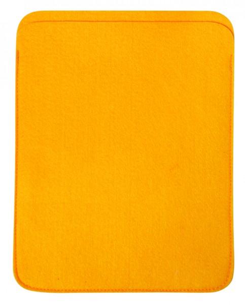 Polyesterfilz Tablet PC-Tasche (Filzstärke: ca. 2,5 mm) - gelb - optional mit Siebdrucktransfer