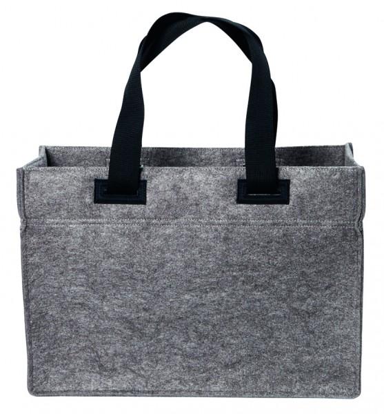 Polyesterfilz Laptop-Tasche (Filzstärke: ca. 3 mm) - anthrazit - optional mit Siebdrucktransfer