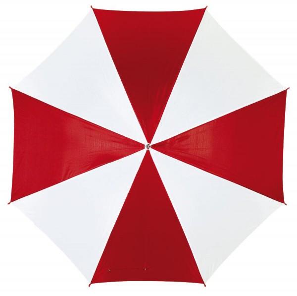 Automatischer Stockschirm DISCO in rot, weiß