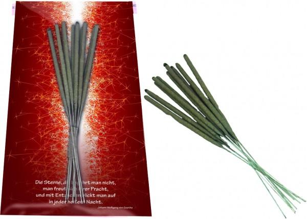 Weihnachtskarte Wunderkerzen, ohne Kuvert, 1-4 c Digitaldruck inklusive