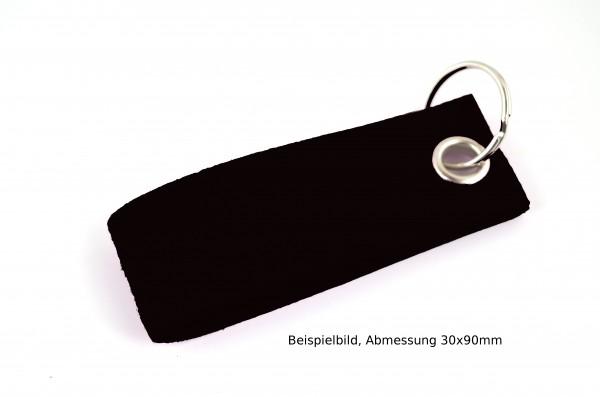 Schlüsselanhänger aus Filz in Schwarz - Schlaufe ca. 120x30mm - made in Germany