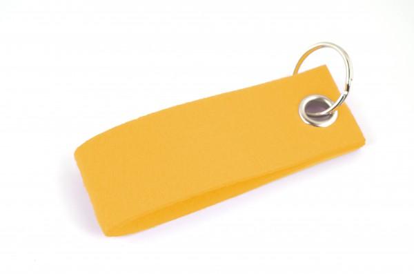 Schlüsselanhänger aus Filz in Gelb - Schlaufe ca. 30x90mm - made in Germany