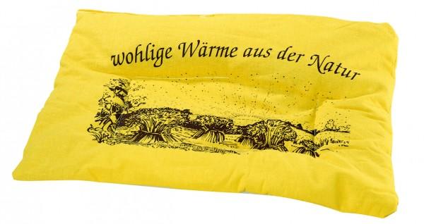 Getreidekissen/ Wärmekissen - gelb (Größe: ca. 37 cm) - optional mit Siebdrucktransfer