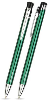 LAIKO Dunkel-Grün glänzender Metallkugelschreiber