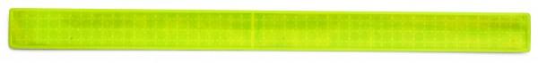 Reflexband mit Metallfeder XL - neongelb (Größe: ca. 40 cm) - optional mit Siebdruck