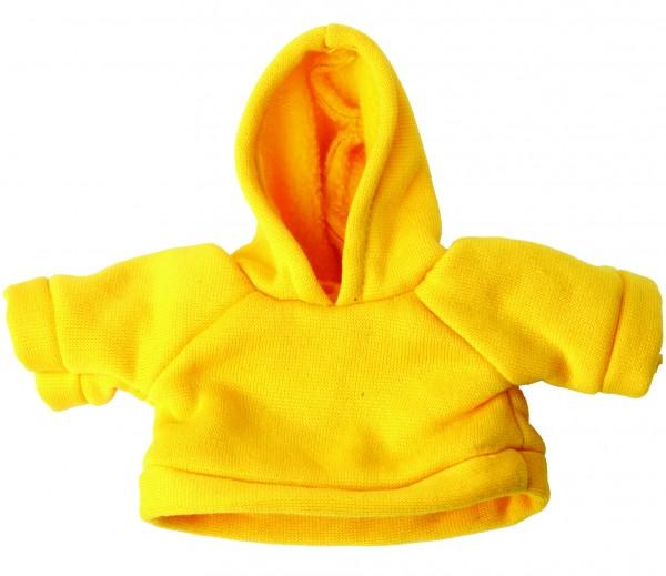 Sweat-Shirt mit Kapuze Gr. M - gelb (Größe: passend für Plüschtiere) - optional mit Siebdrucktransfe