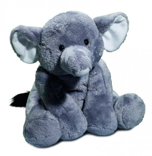 Zootier XL Elefant - grau (Größe: ca. 30 cm) - optional mit Siebdrucktransfer, Direkttransfer