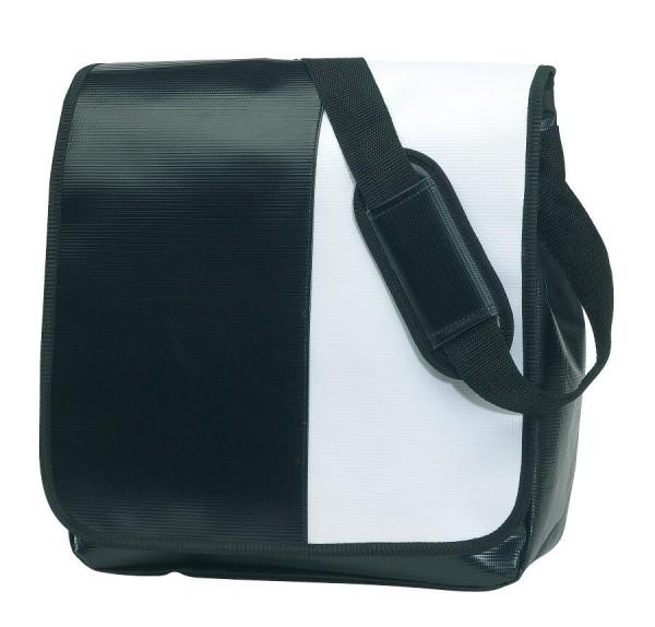 Umschlagtasche ACTION in schwarz, weiß