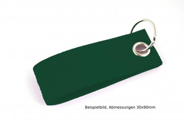 Schlüsselanhänger aus Filz in Dunkelgrün - Schlaufe ca. 120x30mm - made in Germany