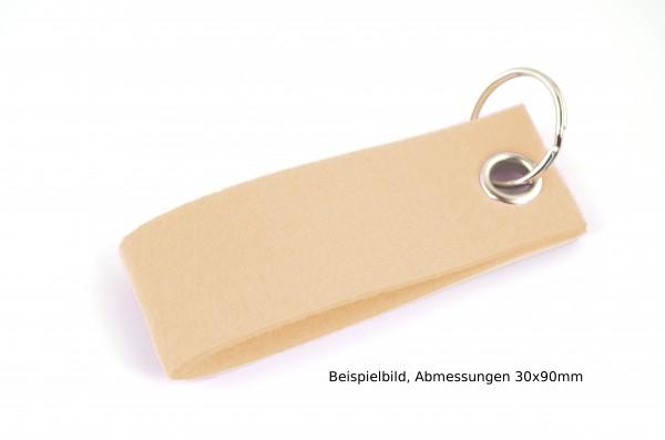 Schlüsselanhänger aus Filz in Haut - Schlaufe ca. 120x30mm - made in Germany