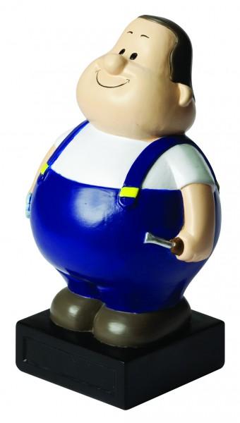 Spardose Schrauber Bert® - bunt (Größe: ca. 20 cm) - optional mit Doming (für Spardose)