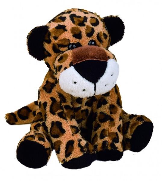 Zootier Leopard Nina - braun (Größe: ca. 18 cm) - optional mit Siebdrucktransfer, Direkttransfer