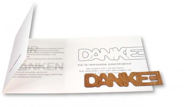 Danke für die Verbundenheit-Karte, ohne Kuvert, 1-4 c Digitaldruck inklusive