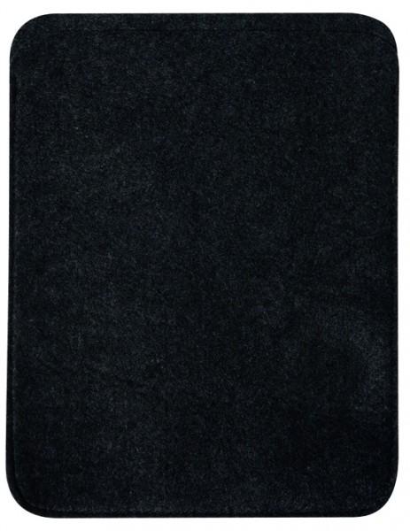 Polyesterfilz Tablet PC-Tasche (Filzstärke: ca. 2,5 mm) - anthrazit - optional mit Siebdrucktransfe