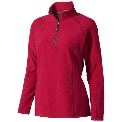 Bowlen Damen Langarm Fleeceshirt mit 1/4 Reißverschluss versch. Größen in versch. Farben mit Siebdru
