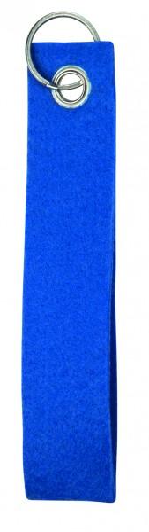 Polyesterfilz-Schlaufe, klein (Filzstärke: ca. 2,5 mm) - blau - optional mit Siebdrucktransfer