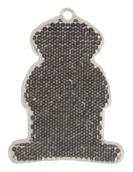 Fußgängerreflektor FREE - weiß (Größe: ca. 7 cm) - optional mit Tampon-/Siebdruck