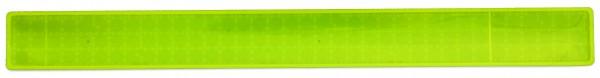 Reflexband mit Metallfeder M - neongelb (Größe: ca. 31 cm) - optional mit Siebdruck