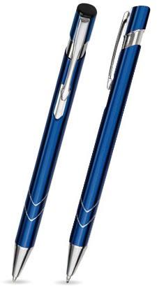Ein STAR in Blau - hochwertiger Metallkugelschreiber, mit gratis Laser-Gravur