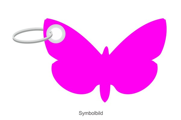 Filz Schlüsselanhänger - Schmetterling - optional mit Aufdruck / Schlüsselring / Werbekarte