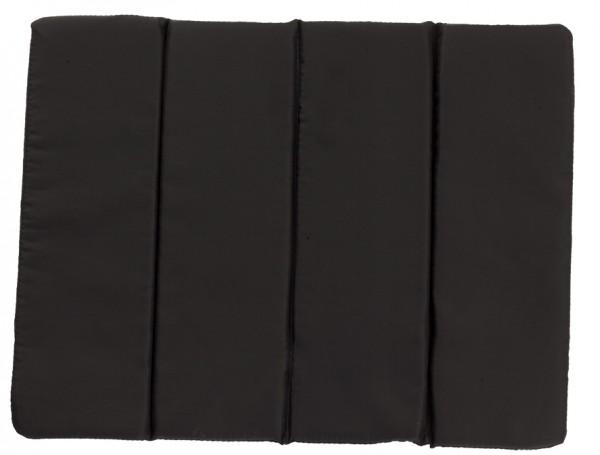 Sitzkissen faltbar - schwarz - optional mit Siebdrucktransfer