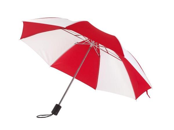 Taschenschirm REGULAR in rot, weiß