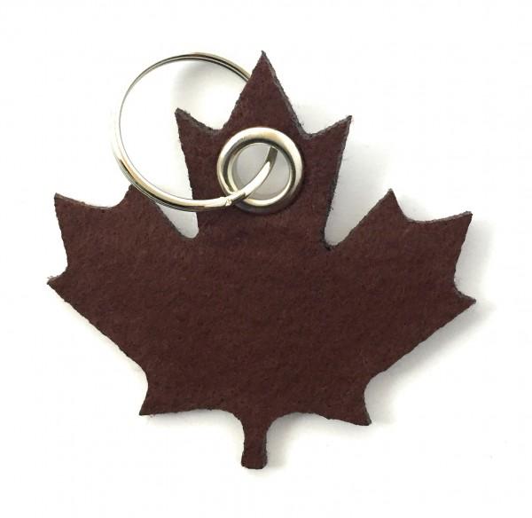 Ahorn-Blatt / Kanada - Schlüsselanhänger aus Filz in braun - optional mit Gravur / Aufdruck