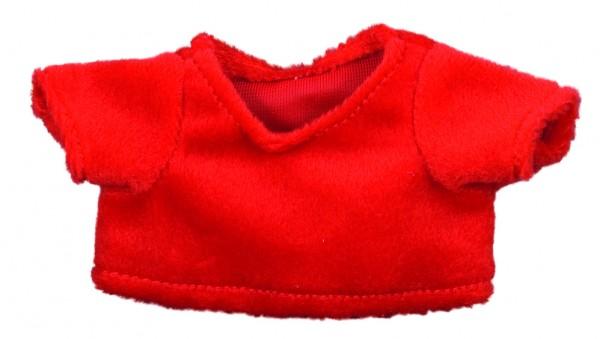 Weihnachts-T-Shirt Gr. M - rot (Größe: passend für Plüschtiere) - optional mit Stick
