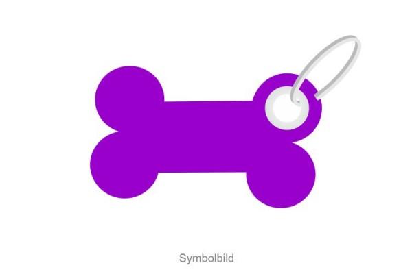 Filz Schlüsselanhänger - Wuff - Knochen - optional mit Aufdruck / Schlüsselring / Werbekarte