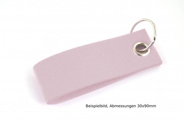 Schlüsselanhänger aus Filz in Puderrosa - Schlaufe ca. 70x25mm - made in Germany