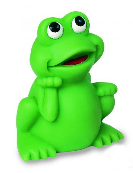 Quietsche-Frosch, groß - grün (Größe: ca. 5,5 cm) - optional mit Tampondruck