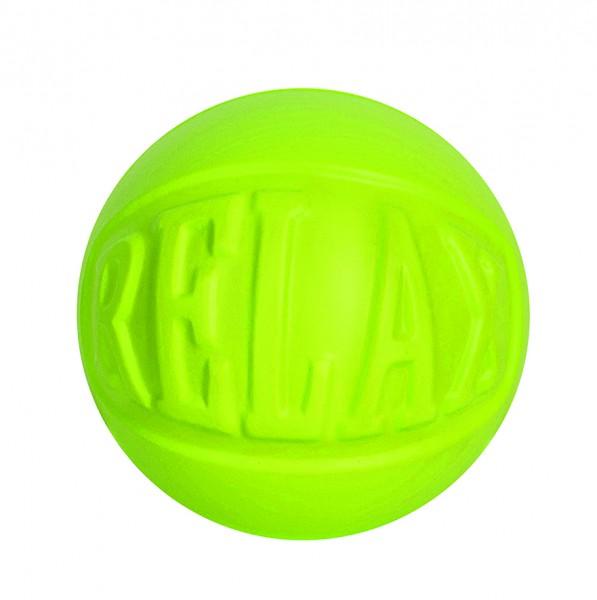 """SQUEEZIES® Statement Ball """"RELAX"""" - grün (Größe: ca. 7 cm Durchmesser) - optional mit Tampondruck"""