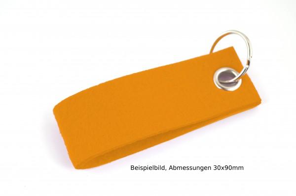 Schlüsselanhänger aus Filz in Dottergelb - Schlaufe ca. 70x25mm - made in Germany