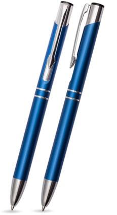 TROJA Blau matter Metallkugelschreiber