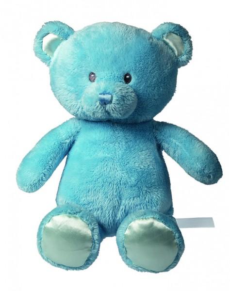 Plüsch Bär Julian - hellblau (Größe: ca. 20 cm) - optional mit Tampondruck, Siebdrucktransfer, Direk