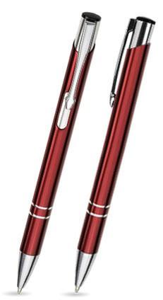 LIBO Burgund-Roter Metallkugelschreiber