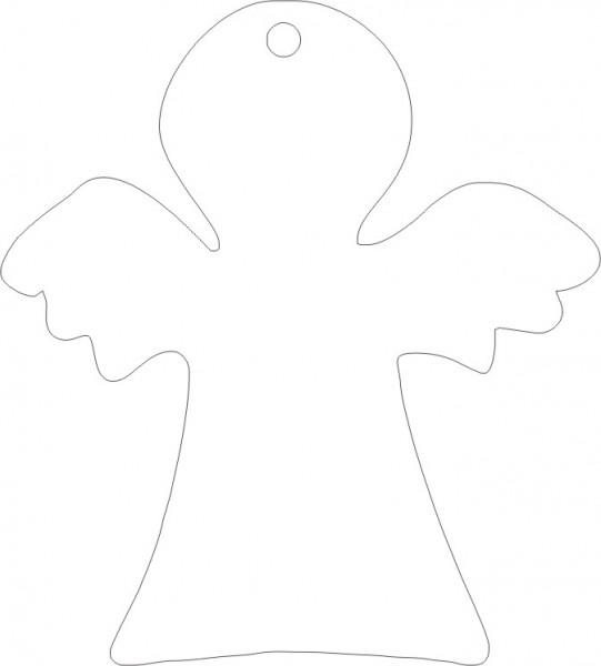 Weichplastiksticker Engel - neongelb (Größe: ca. 6,9 cm) - optional mit Siebdrucktransfer