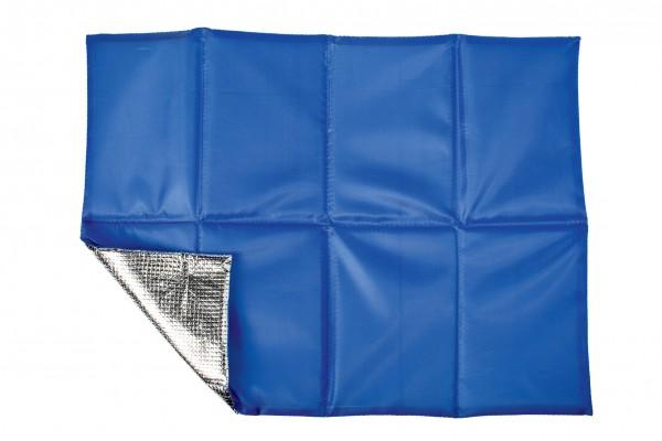 Sitzkissen faltbar, mit Hülle - blau - optional mit Siebdrucktransfer