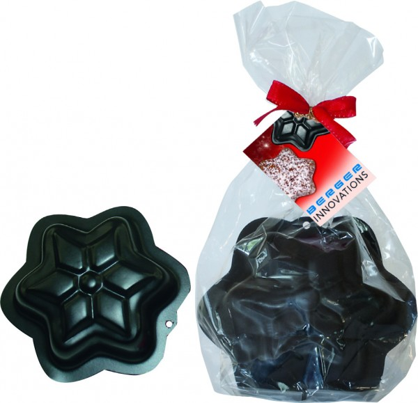 Stern-Backform im Geschenktütchen, 1-4 c Digitaldruck inklusive