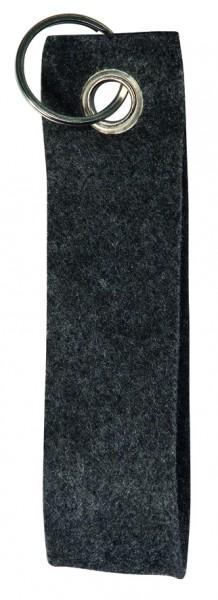 Polyesterfilz-Schlaufe Schlüsselband, groß (Filzstärke: ca. 2,5 mm) - anthrazit - optional mit Sieb