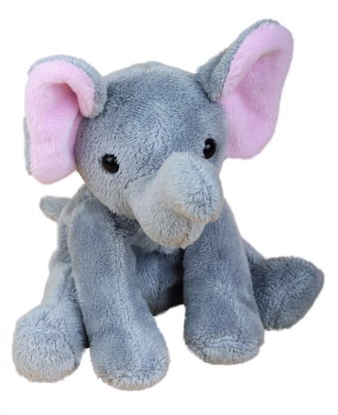 Zootier Elefant Linus - grau (Größe: ca. 18 cm) - optional mit Siebdrucktransfer, Direkttransfer