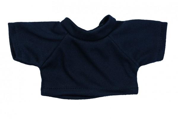 Mini-T-Shirt Gr. S - dunkelblau (Größe: passend für Plüschtiere) - optional mit Siebdrucktransfer