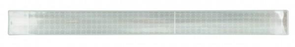 Reflexband mit Metallfeder XXL - silber (Größe: ca. 44 cm) - optional mit Siebdruck