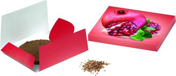 Granatapfel-Päckchen, 1-4 c Digitaldruck inklusive