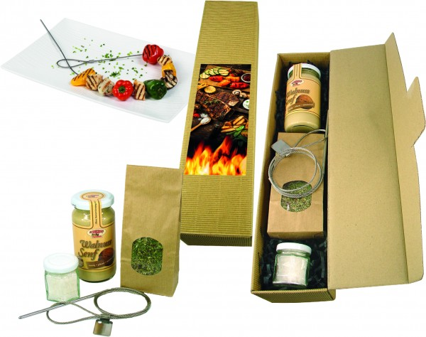 Grill-Set, 1-4 c Digitaldruck optional inklusive