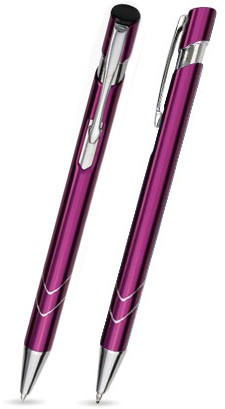 Ein STAR in Lila - hochwertiger Metallkugelschreiber, mit gratis Laser-Gravur
