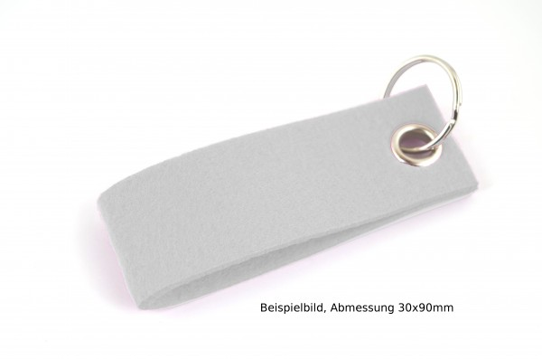 Schlüsselanhänger aus Filz in Braun meliert - Schlaufe ca. 30x90mm - made in Germany