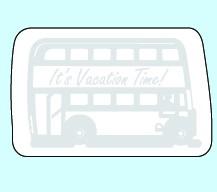 Weichplastiksticker Bus - neongelb (Größe: ca. 7,3 cm) - optional mit Siebdrucktransfer